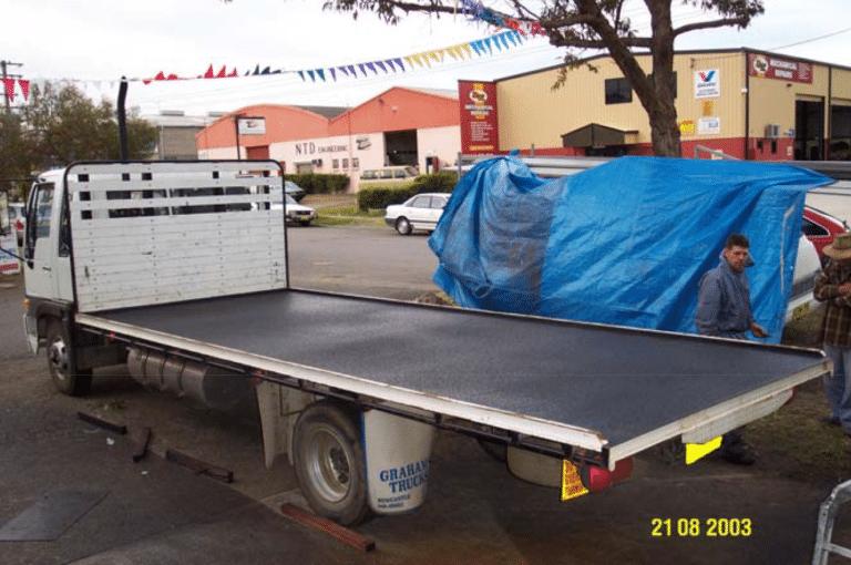 8m Long Truck: Protective Coating - Polyurethane Protective Coatings - Rhino Linings Newcastle